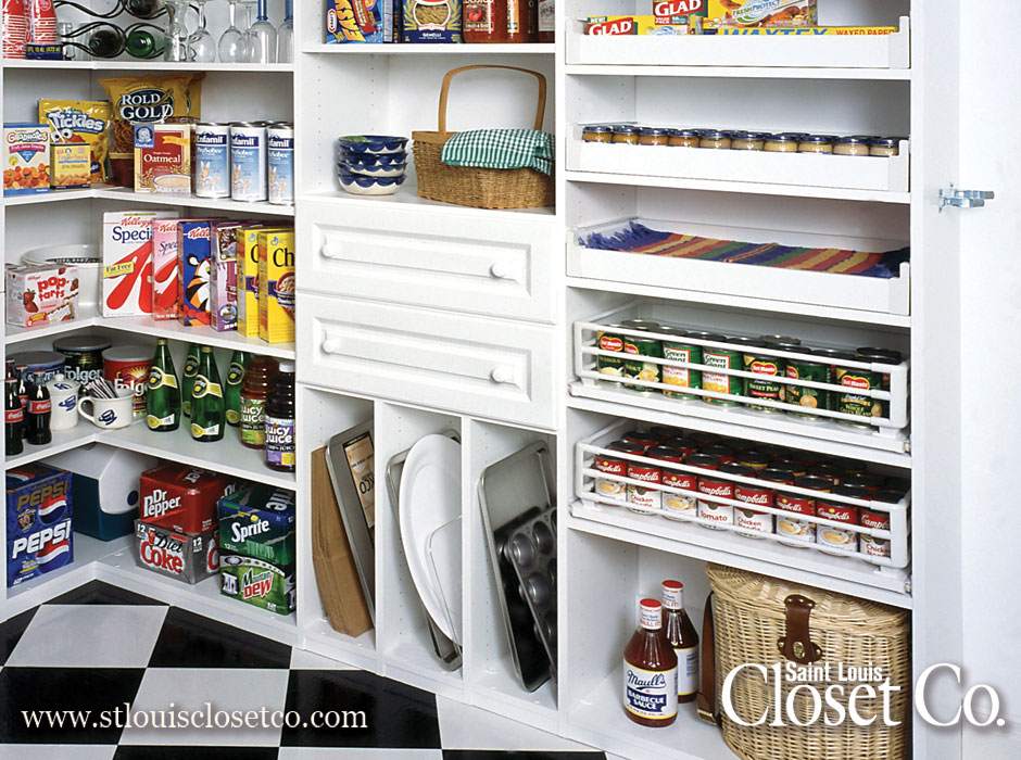 Saint Louis Closet Co. Can Make Your Pantry As Custom And Functional As You  Like, With Everything From Corner Shelves To Pull Out Racks And Drawers.