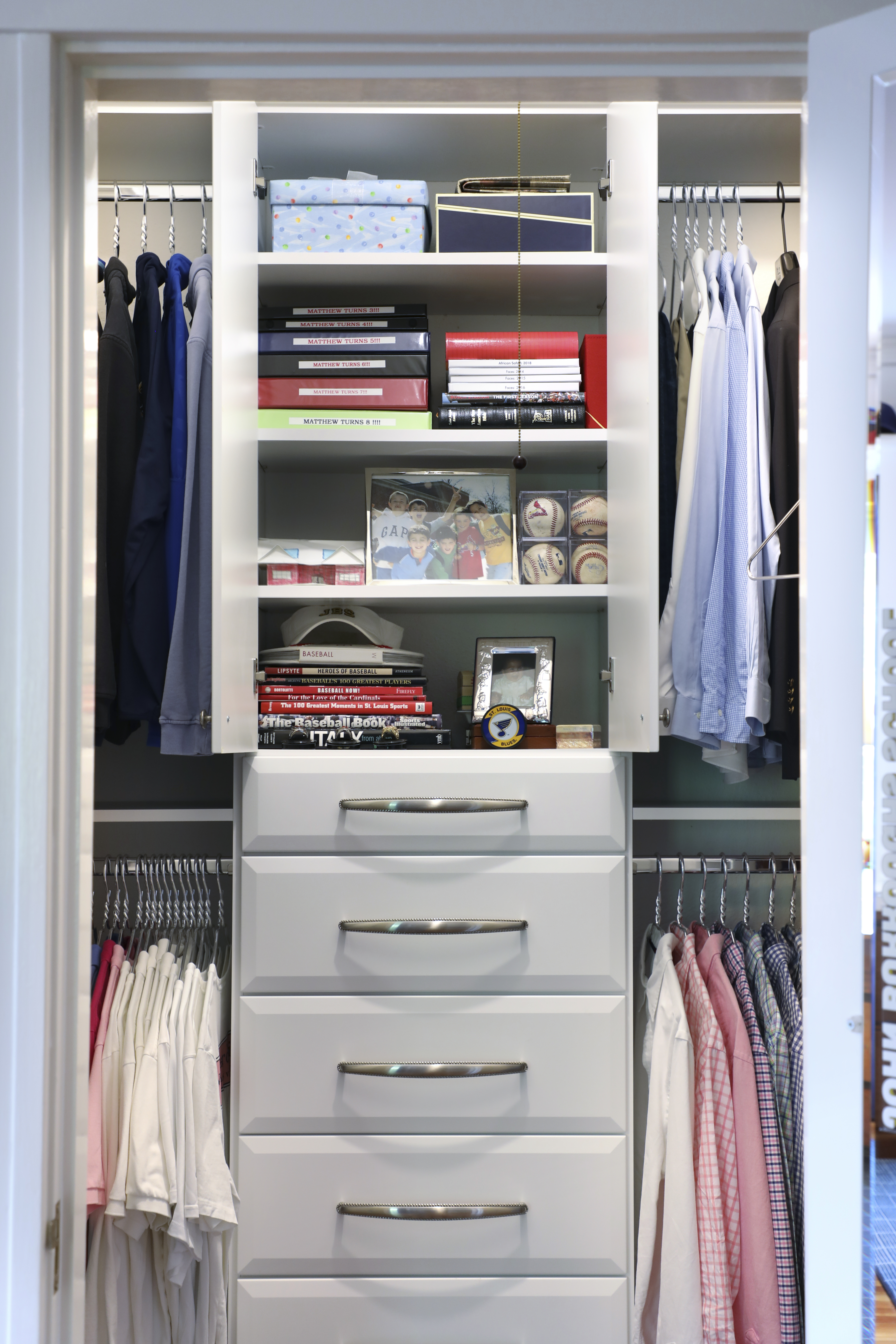 young man custom closet