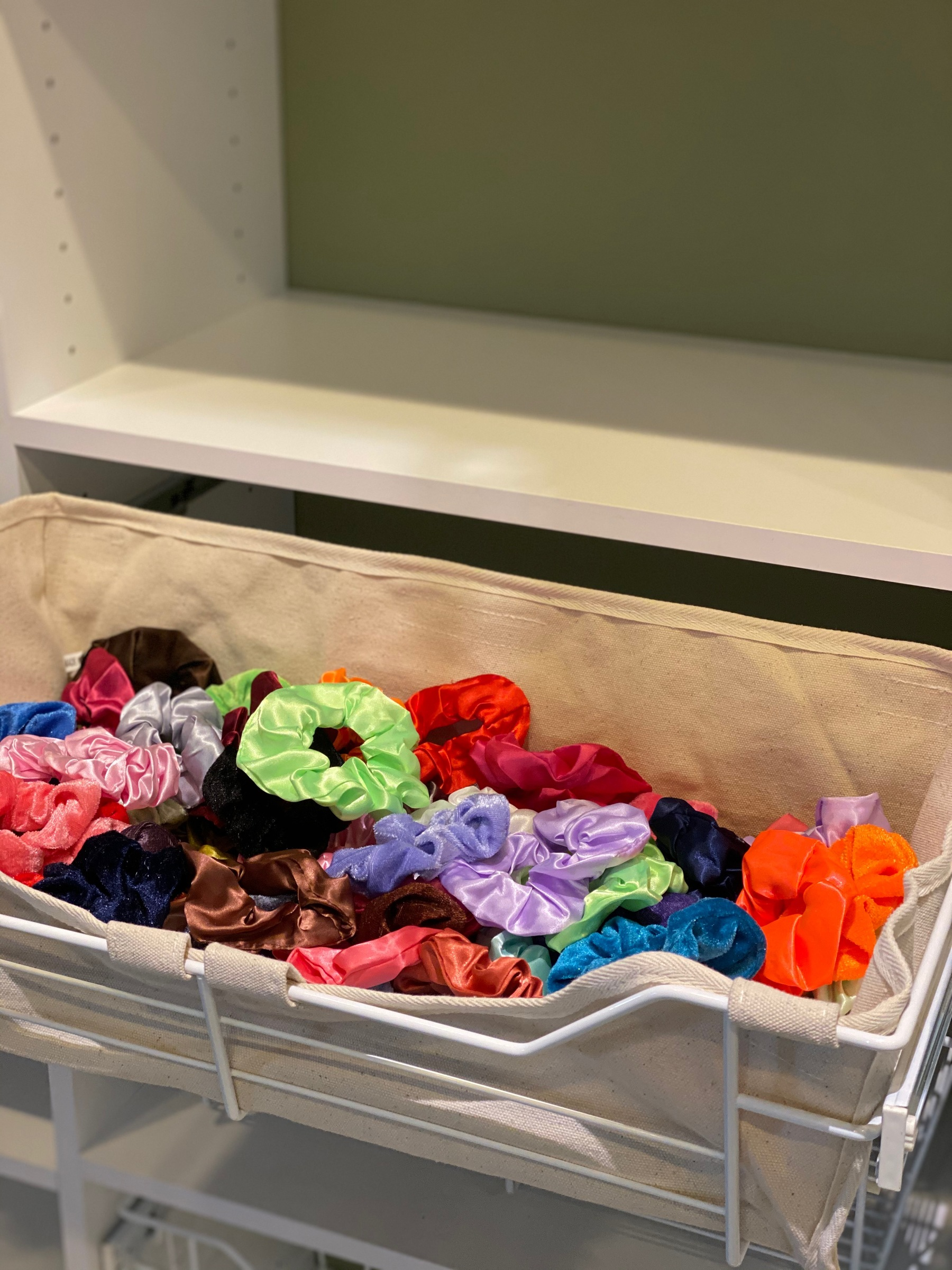 basket for scrunchies