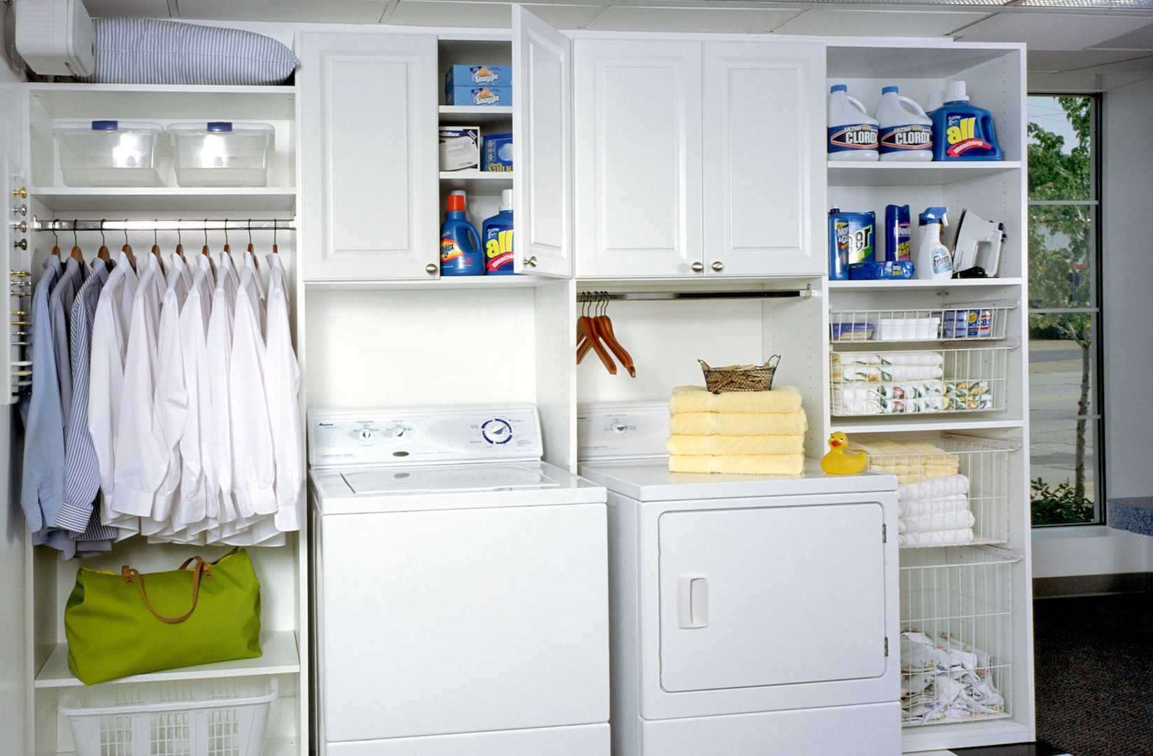 laundry room adjustable shelving