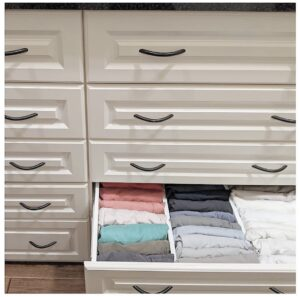 drawer dividers organizing athletic clothing